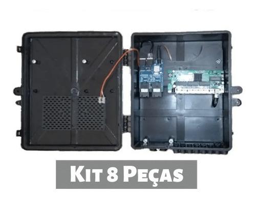 kit 8 peças xwave metro switch 8 portas destacável