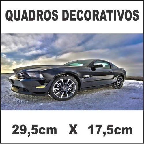 kit 8 placas decorativas 29,5cm x 17,5cm carros e paisagens