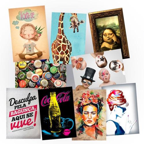 kit 8 placas decorativas 40x60cm 1000 modelos a escolher