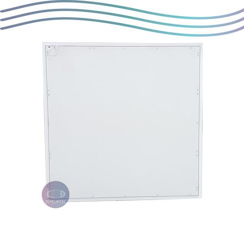 kit 8 plafon embutir painel led slim 60x60 50w quadrado frio