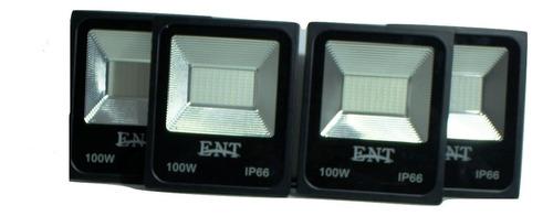 kit 8 refletor prova dagua 100w iluminação residencial casa