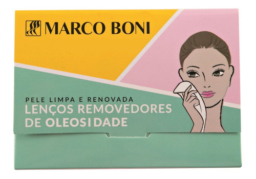 kit 80 lenços removedores de oleosidade do rosto marco boni