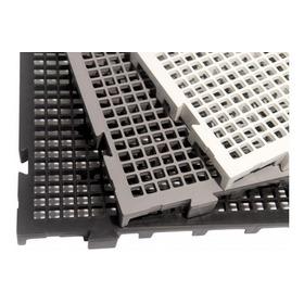 Kit 80 Pçs - Palete Estrado Plástico Preto 2,5 X 25x50 Cm