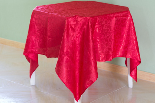 kit 80 toalhas de mesa cetim jacquard floral 150x150
