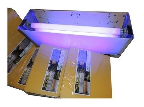 kit 9 armadilhas luminosas 4 lâmpada -inox escovado - mosca