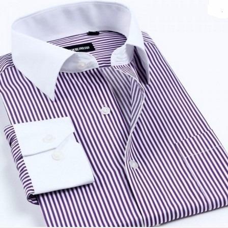 kit 9 camisa social slim fit listrado atacado.
