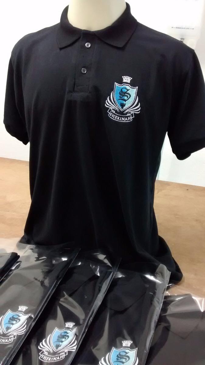e176b0bf77 kit 9 camisas polos personalizada com bordado para uniformes. Carregando  zoom.