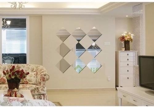 kit 9 espejos cuadrados decorativo con bisel + envío gratis