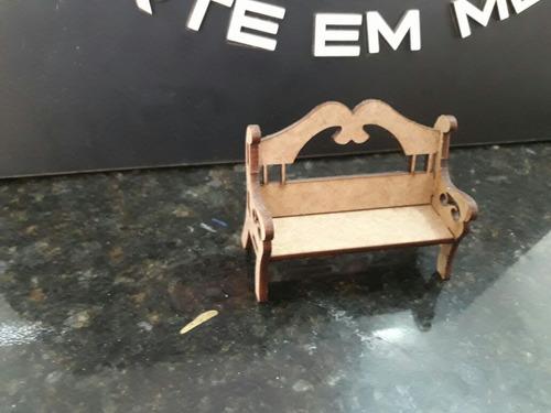 kit 9 miniatura decoração berço cesta mesa banco provençal