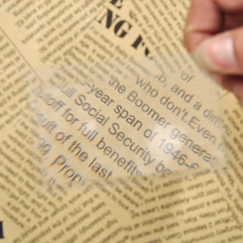 kit 9 pçs. lupa  de bolso tamanho de cartão crédito leitura