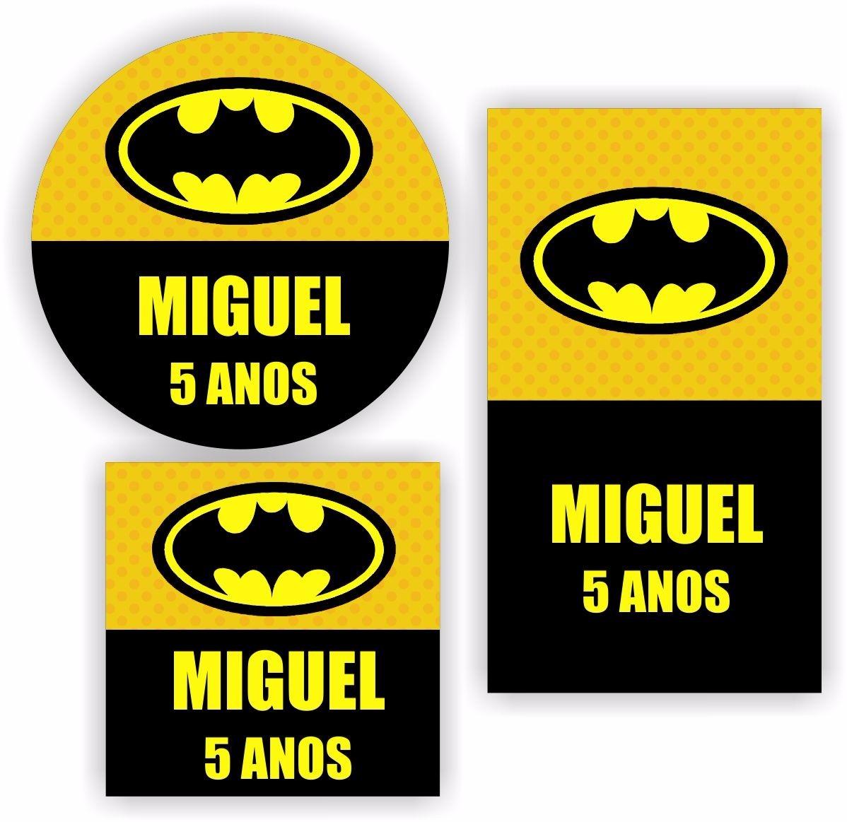 Adesivo De Parede Tijolo A Vista ~ Kit 90 Unid Adesivo Personalizado Batman Lembrancinha Festa R$ 29,99 em Mercado Livre