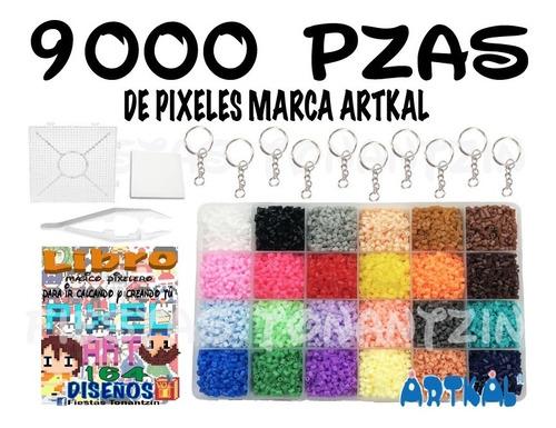 kit 9,000 pzas perler beads hama pixel art pixeles artkal