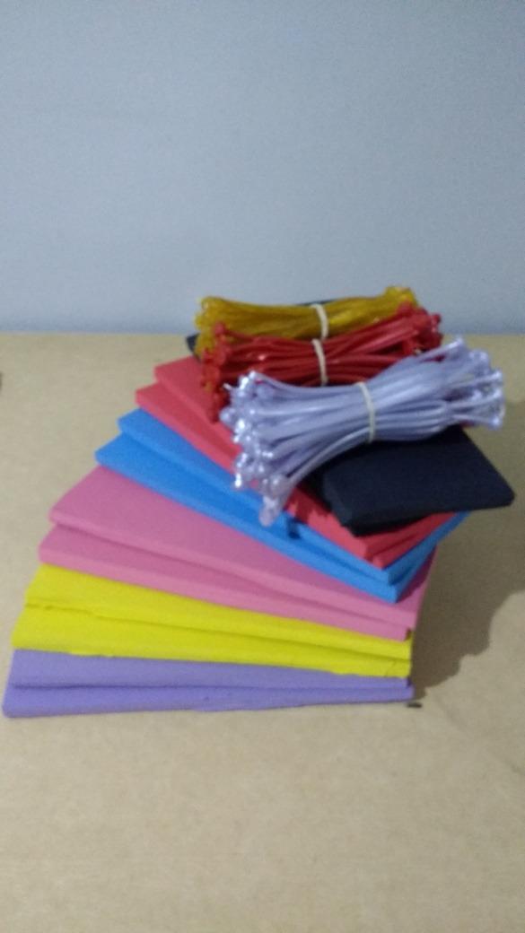 2a438eb3aef7ee kit 96 placas borracha 100% e 48 pares tiras fazer chinelos. Carregando  zoom.