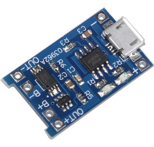 kit 9x mini carregador usb bateria litio 5v tp4056 c/  pro