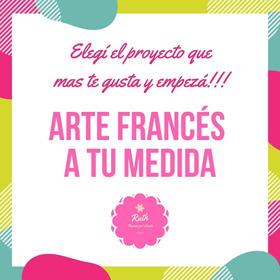 Kit A 4 Para Arte Francés + 4 Hs De Clases On Line