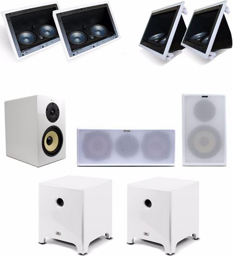 kit aat premium 5.2.2 caixas gesso dolby atmos + sub 12''