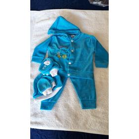 Kit Abrigo Plush Bebê  4 Peças Tam P