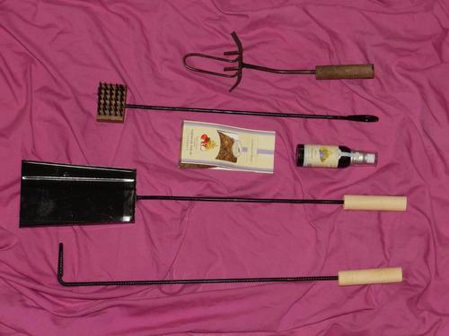kit accesorios asador  herramientas parrilla asado fabrica**