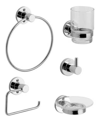 kit accesorios baño fv arizona 5 piezas cromo 0179.05/b1
