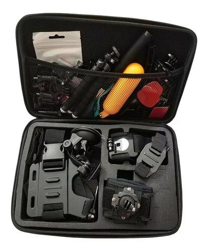 kit accesorios gopro estuche monopod pechera adaptador 24 pc