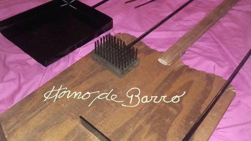 kit accesorios parrilla horno de barro herramientas asador**