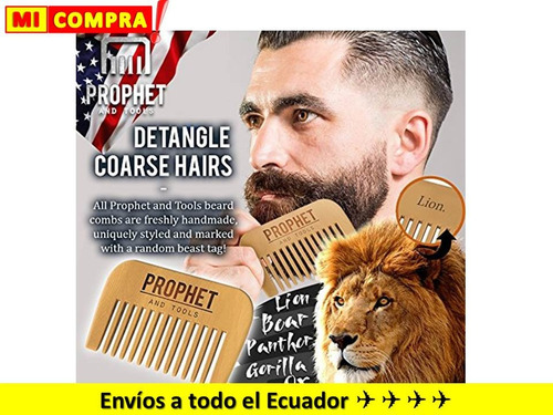 kit aceite y peine barba prophet and tools 100% americano