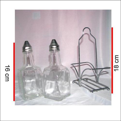 kit aceitero vinagrero + base marca psf 16cm altura
