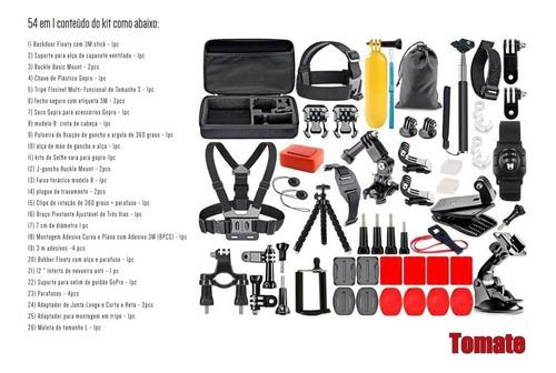 kit acessório gopro 7 black completo go pro hero  6 5 4 3 54