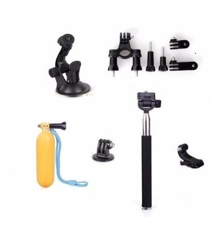 kit acessórios 6x1 câmeras gopro hero 3+/4/5/6/session/sjcam