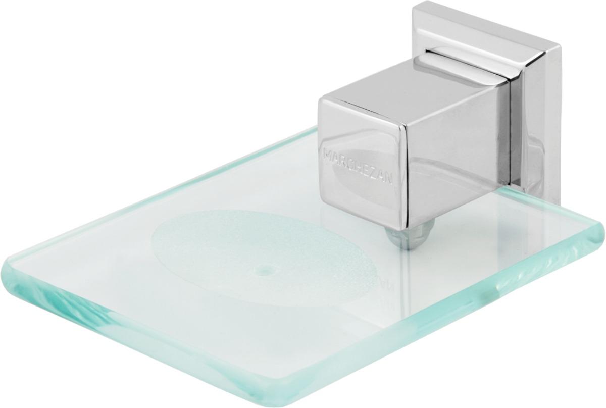Kit De Acessorios Para Banheiro Quadrado Aço Inox 06 Peças  R$ 767,39 em Mer -> Kit Acessorios Pia De Banheiro