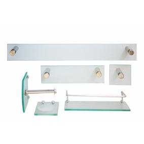 51d8d96bca5fb Kit Para Banheiro Safira 1+3 Porta Sh+3cantoneiras Modeladas