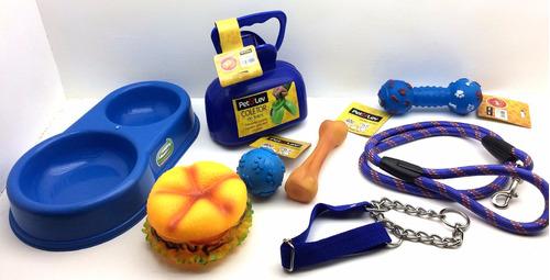 kit acessórios brinquedos de borracha p/ cães cachorros pet