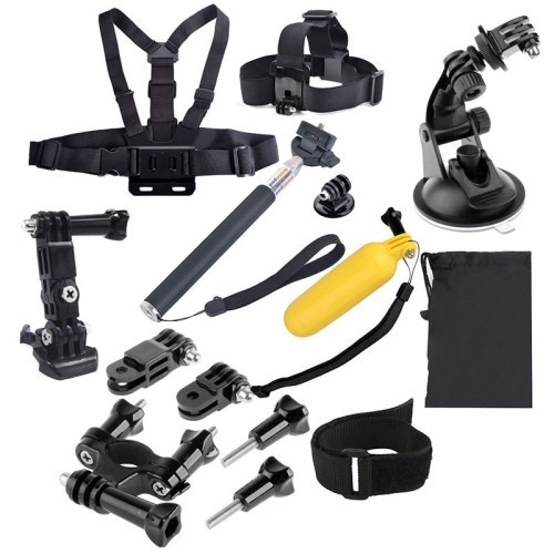 kit acessórios câmera hero hd 2 3 3+ 4 hd gopro 20 em 1 novo