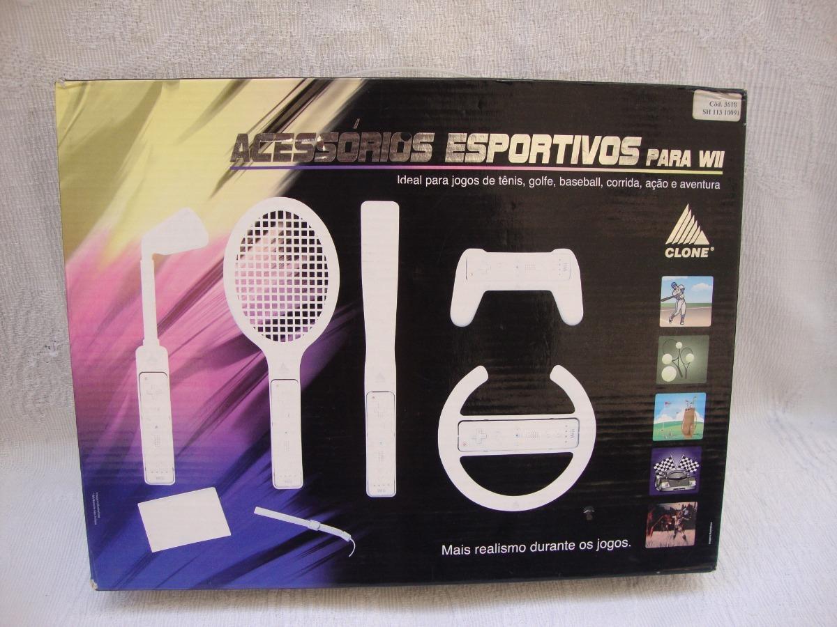 42b8f3c57 kit acessórios de esporte para nintendo wii. Carregando zoom.