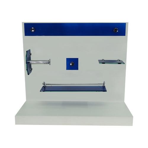Kit Acessórios De Vidro P Banheiro + Cuba Colorido  R$ 249,80 em Mercado Livre -> Cuba De Vidro Para Banheiro Em Bh