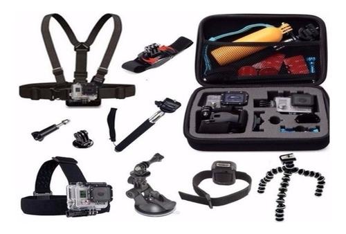 kit acessórios e suportes gopro hero 4 5 session 5 6 7 black