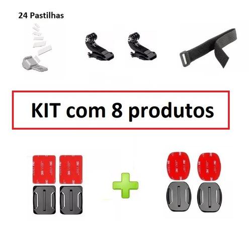 kit acessórios e suportes p gopro hero 4 session 5 6 7 black