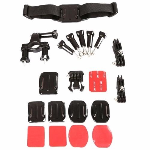 kit acessórios e suportes para gopro hero hd 1 2 3 3+ 4 lcd