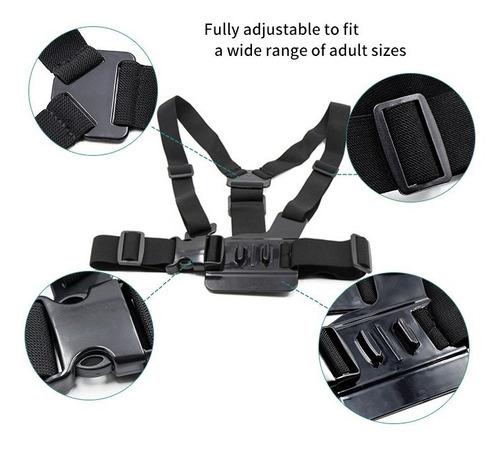 kit acessorios go pro maleta estojo hero 5/4/3 black silver