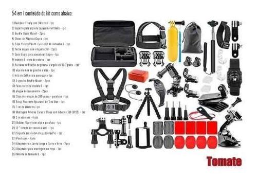 kit acessorios gopro 7 black completo go pro hero 6 5 4 3 54