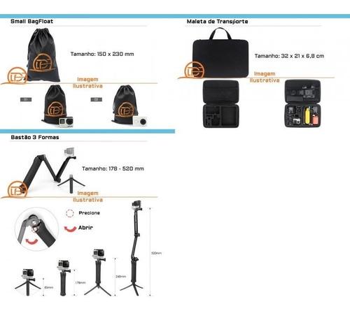 kit acessorios gopro 7 black go pro hero 6 5 bastão 3 way