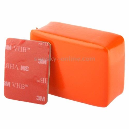 kit acessórios gopro caixa protetora+boia+adesivo 3m gopro