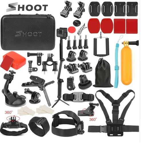 kit acessorios gopro hero 7 6 5 4 3 maleta novo câmera