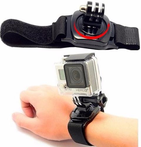 kit acessórios gopro maleta g flutuador pulso 360 cinta