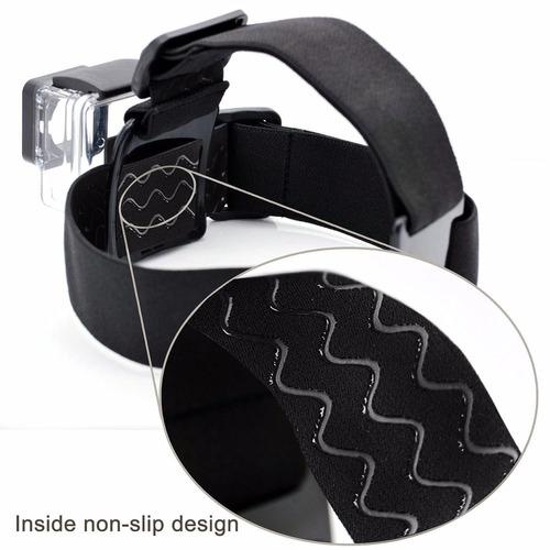 kit acessórios p/ gopro hero cinta capacete flutuador cabeça