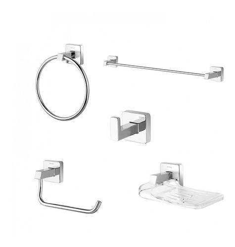 kit acessórios para banheiro 5 peças trip docol fa