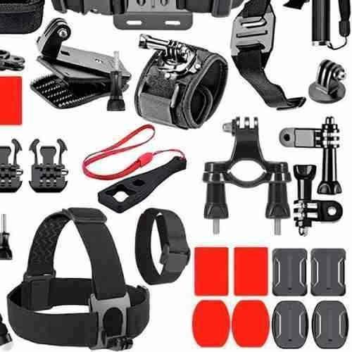 kit acessórios suportes gopro hero 4 session 5 6 7 black 53