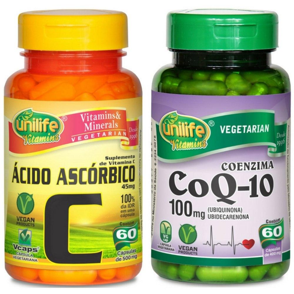 1b5f5cca5 Kit Ácido Ascórbico + Coenzima Q10 - R  120