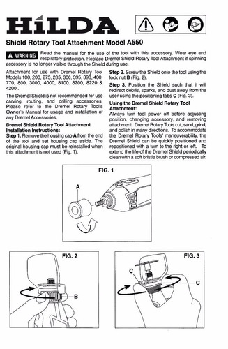 kit acoplamento capa de proteção compatível com dremel a550