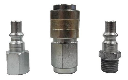 kit acople rapido conector aire comprimido racor nacional 1/4